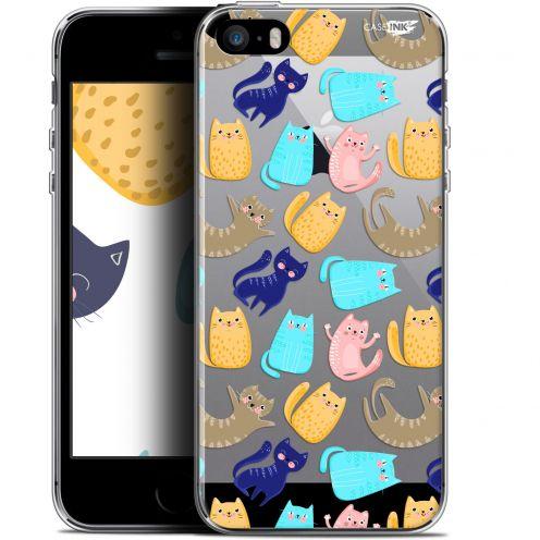 "Carcasa Gel Extra Fina Apple iPhone 5/5s/SE (4"") Design Chat Danse"
