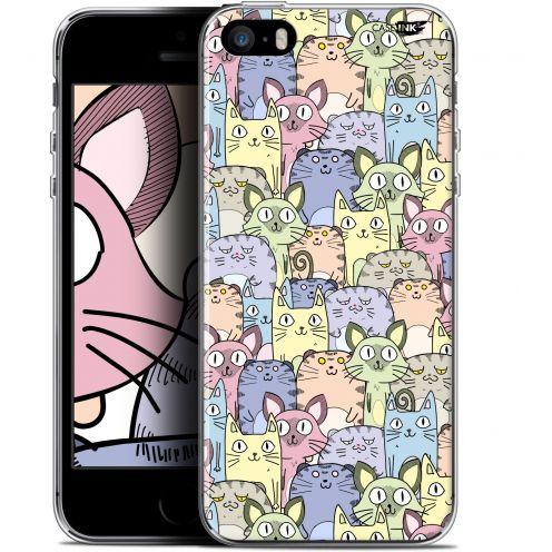 "Carcasa Gel Extra Fina Apple iPhone 5/5s/SE (4"") Design Foule de Chats"