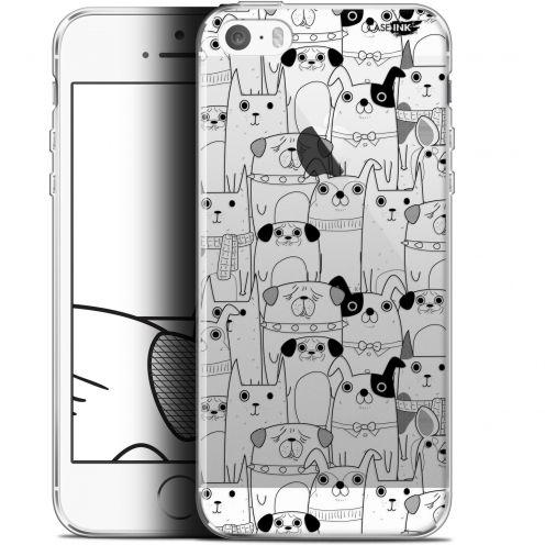 "Carcasa Gel Extra Fina Apple iPhone 5/5s/SE (4"") Design Chien Noir"