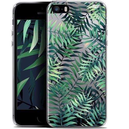"Carcasa Gel Extra Fina Apple iPhone 5/5s/SE (4"") Design Feuilles des Tropiques"