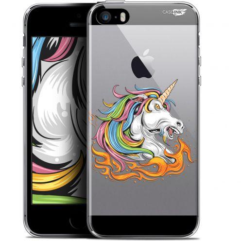"""Carcasa Gel Extra Fina Apple iPhone 5/5s/SE (4"""") Design Licorne de Feu"""