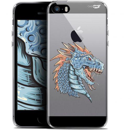 "Carcasa Gel Extra Fina Apple iPhone 5/5s/SE (4"") Design Dragon Draw"
