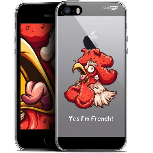 "Carcasa Gel Extra Fina Apple iPhone 5/5s/SE (4"") Design I'm French Coq"