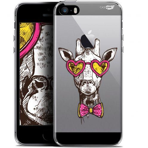 "Carcasa Gel Extra Fina Apple iPhone 5/5s/SE (4"") Design Hipster Giraffe"