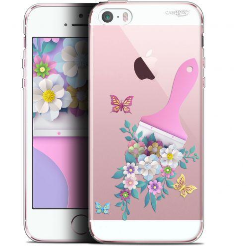 """Carcasa Gel Extra Fina Apple iPhone 5/5s/SE (4"""") Design Pinceau à Fleurs"""