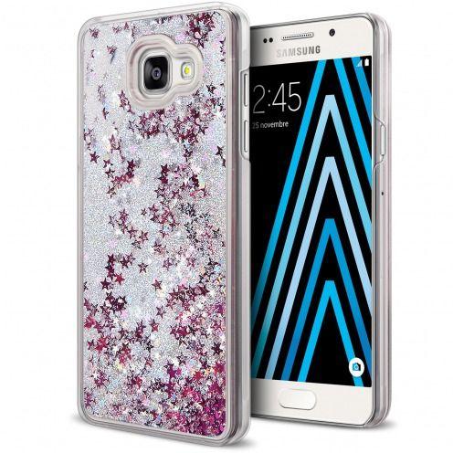 Carcasa Crystal Glitter Liquid Diamonds Plata Samsung Galaxy A3 2016 (A310)