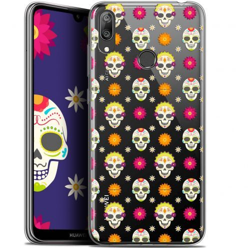 "Carcasa Gel Extra Fina Huawei Y7 / Prime / Pro 2019 (6.26"") Halloween Skull Halloween"