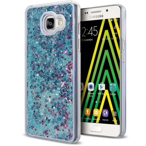 Carcasa Crystal Glitter Liquid Diamonds Azul Samsung Galaxy A5 2016 (A510)