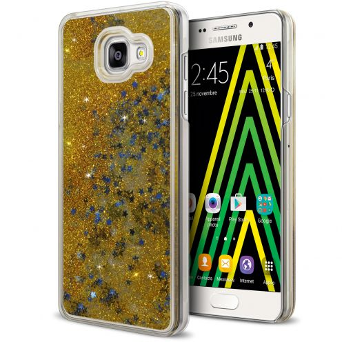 Carcasa Crystal Glitter Liquid Diamonds Oro Samsung Galaxy A5 2016 (A510)