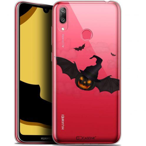 "Carcasa Gel Extra Fina Huawei Y7 / Prime / Pro 2019 (6.26"") Halloween Chauve Citrouille"
