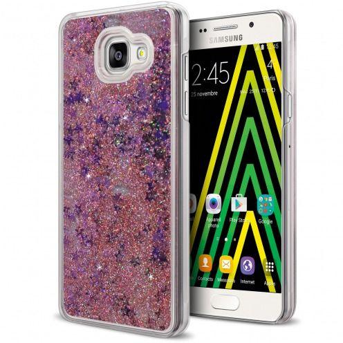 Carcasa Crystal Glitter Liquid Diamonds Rosa Samsung Galaxy A5 2016 (A510)
