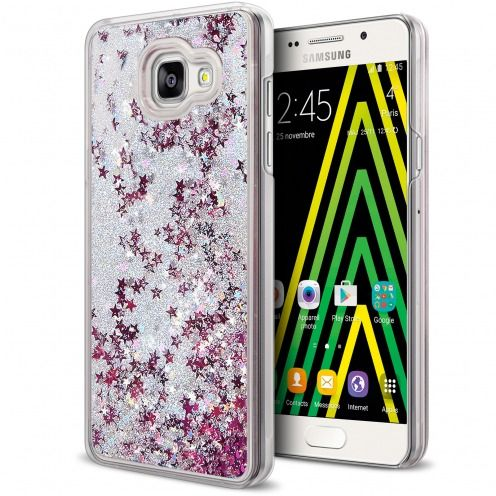 Carcasa Crystal Glitter Liquid Diamonds Plata Samsung Galaxy A5 2016 (A510)