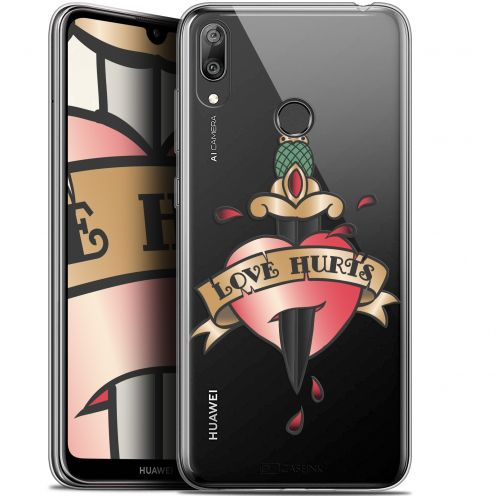 "Carcasa Gel Extra Fina Huawei Y7 / Prime / Pro 2019 (6.26"") Tatoo Lover Love Hurts"