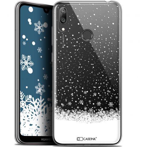 """Carcasa Gel Extra Fina Huawei Y7 / Prime / Pro 2019 (6.26"""") Noël 2017 Flocons de Neige"""