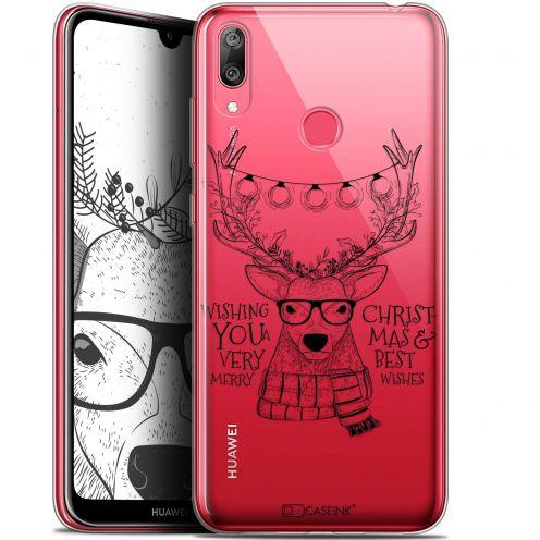"Carcasa Gel Extra Fina Huawei Y7 / Prime / Pro 2019 (6.26"") Noël 2017 Cerf Hipster"