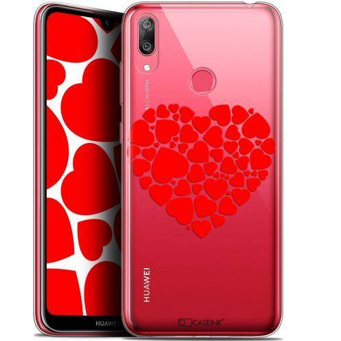 "Carcasa Gel Extra Fina Huawei Y7 / Prime / Pro 2019 (6.26"") Love Coeur des Coeurs"