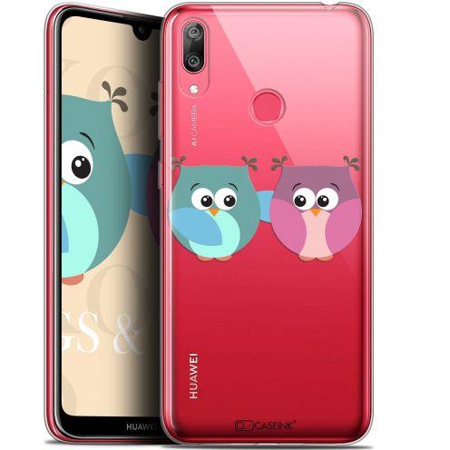 """Carcasa Gel Extra Fina Huawei Y7 / Prime / Pro 2019 (6.26"""") Love Hibous à deux"""