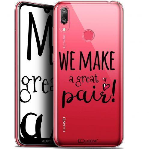"Carcasa Gel Extra Fina Huawei Y7 / Prime / Pro 2019 (6.26"") Love We Make Great Pair"