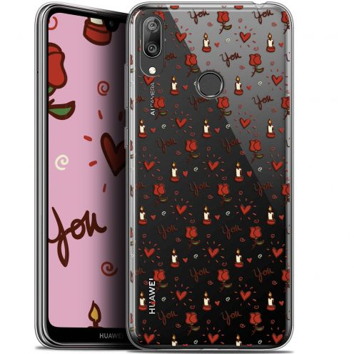 "Carcasa Gel Extra Fina Huawei Y7 / Prime / Pro 2019 (6.26"") Love Bougies et Roses"