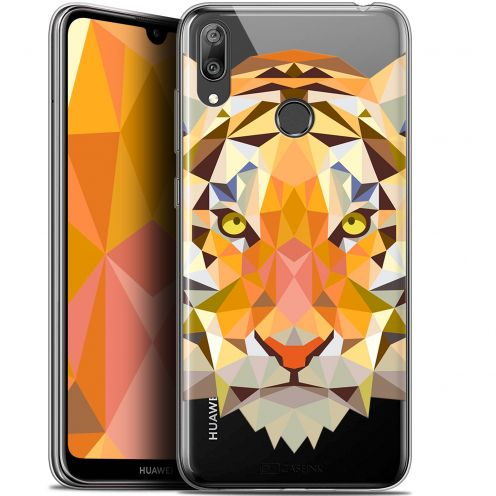 """Carcasa Gel Extra Fina Huawei Y7 / Prime / Pro 2019 (6.26"""") Polygon Animals Tigre"""