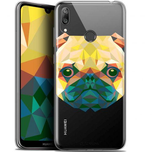 """Carcasa Gel Extra Fina Huawei Y7 / Prime / Pro 2019 (6.26"""") Polygon Animals Perro"""