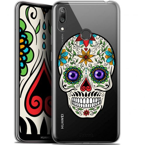 "Carcasa Gel Extra Fina Huawei Y7 / Prime / Pro 2019 (6.26"") Skull Maria's Flower"