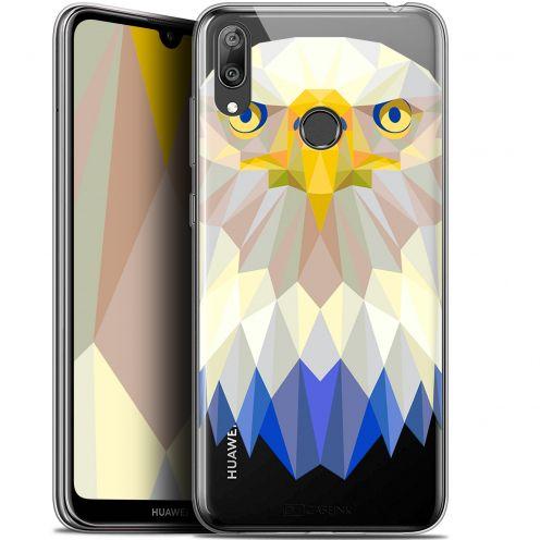 "Carcasa Gel Extra Fina Huawei Y7 / Prime / Pro 2019 (6.26"") Polygon Animals Águila"