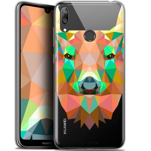 """Carcasa Gel Extra Fina Huawei Y7 / Prime / Pro 2019 (6.26"""") Polygon Animals Ciervo"""