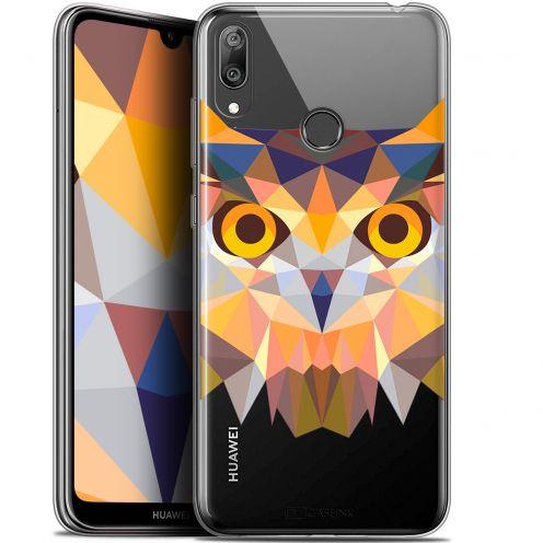 """Carcasa Gel Extra Fina Huawei Y7 / Prime / Pro 2019 (6.26"""") Polygon Animals Búho"""