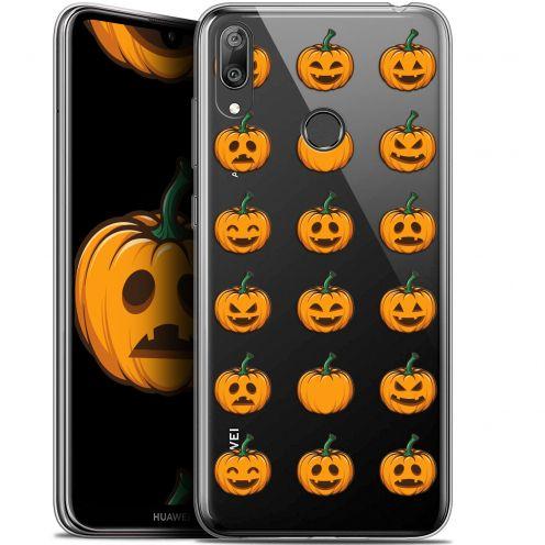 "Carcasa Gel Extra Fina Huawei Y7 / Prime / Pro 2019 (6.26"") Halloween Smiley Citrouille"