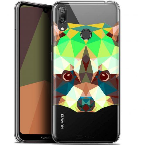 """Carcasa Gel Extra Fina Huawei Y7 / Prime / Pro 2019 (6.26"""") Polygon Animals Raton Laveur"""