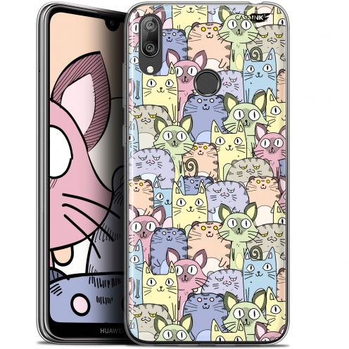 "Carcasa Gel Extra Fina Huawei Y7 / Prime / Pro 2019 (6.26"") Design Foule de Chats"
