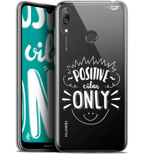 """Carcasa Gel Extra Fina Huawei Y7 / Prime / Pro 2019 (6.26"""") Design Positive Vibes Only"""