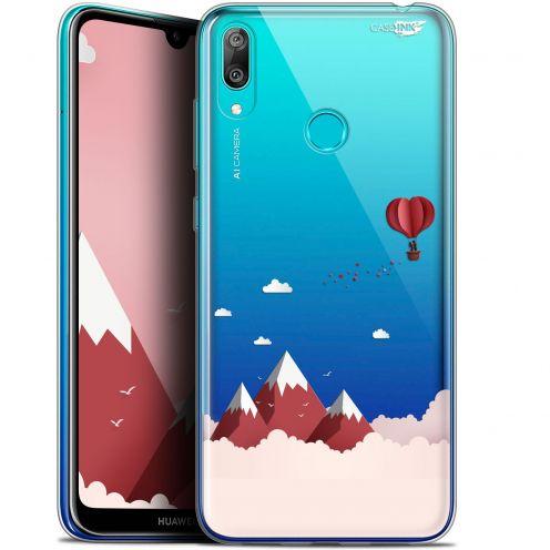 """Carcasa Gel Extra Fina Huawei Y7 / Prime / Pro 2019 (6.26"""") Design Montagne En Montgolfière"""