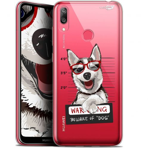 "Carcasa Gel Extra Fina Huawei Y7 / Prime / Pro 2019 (6.26"") Design Beware The Husky Dog"