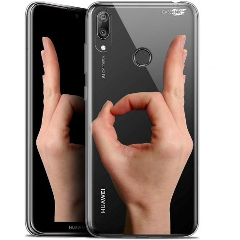 "Carcasa Gel Extra Fina Huawei Y7 / Prime / Pro 2019 (6.26"") Design Le Jeu du Rond"