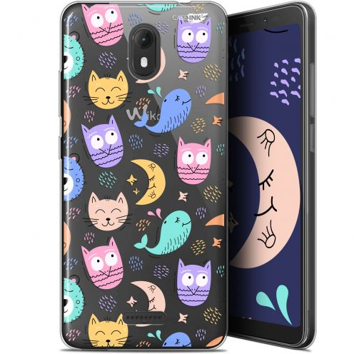 "Carcasa Gel Extra Fina Wiko View GO (5.7"") Design Chat Hibou"