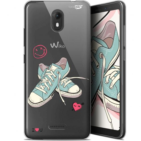 "Carcasa Gel Extra Fina Wiko View GO (5.7"") Design Mes Sneakers d'Amour"