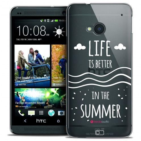 Carcasa Crystal Extra Fina HTC One (M7) Summer Life's Better