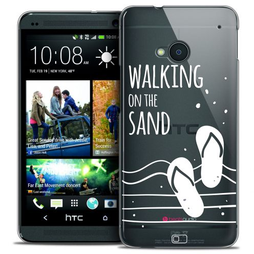 Carcasa Crystal Extra Fina HTC One (M7) Summer Walking on the Sand