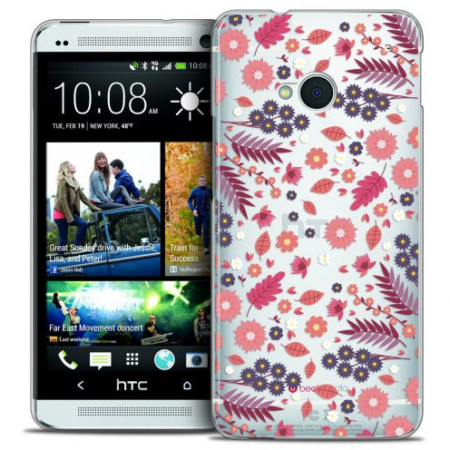 Carcasa Crystal Extra Fina HTC One (M7) Spring Floraison