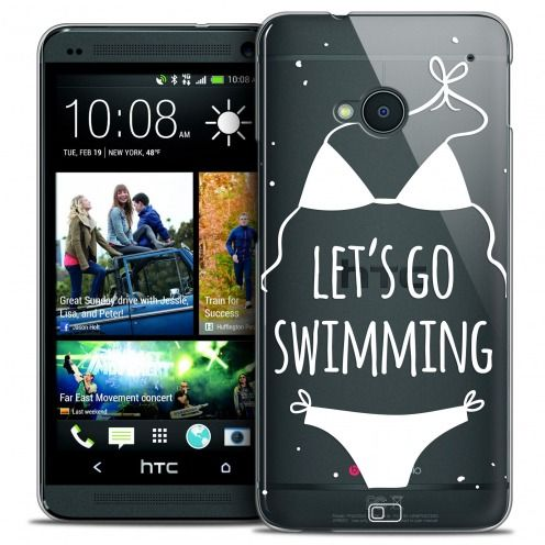 Carcasa Crystal Extra Fina HTC One (M7) Summer Let's Go Swim