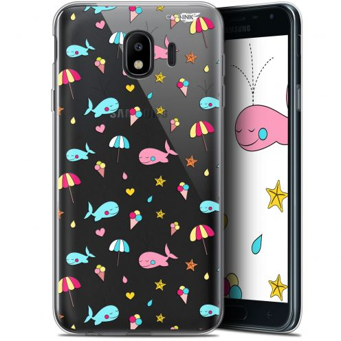 "Carcasa Gel Extra Fina Samsung Galaxy J4 2018 J400 (5.7"") Design Baleine à la Plage"