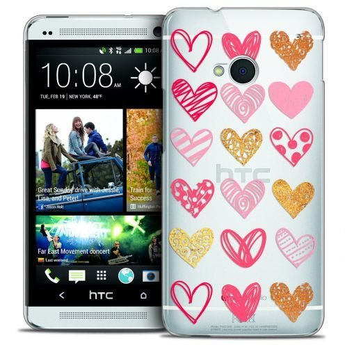 Carcasa Crystal Extra Fina HTC One (M7) Sweetie Doodling Hearts