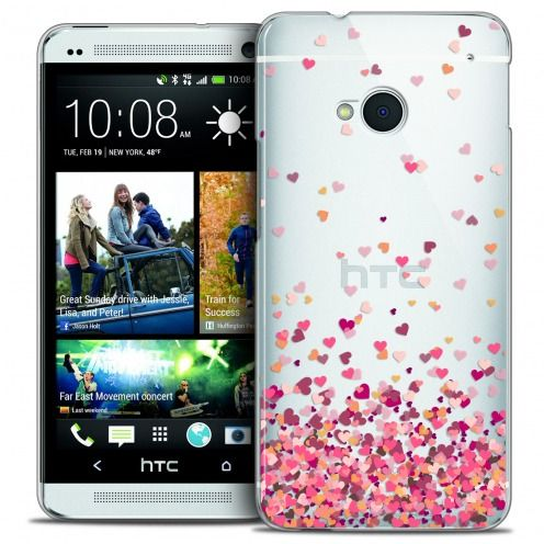 Carcasa Crystal Extra Fina HTC One (M7) Sweetie Heart Flakes