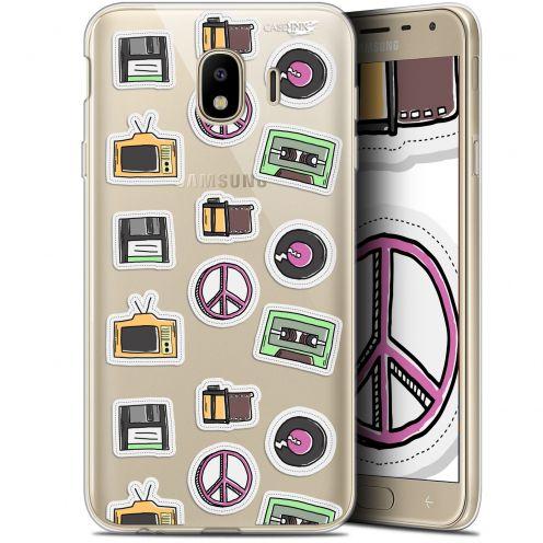 "Carcasa Gel Extra Fina Samsung Galaxy J4 2018 J400 (5.7"") Design Vintage Stickers"