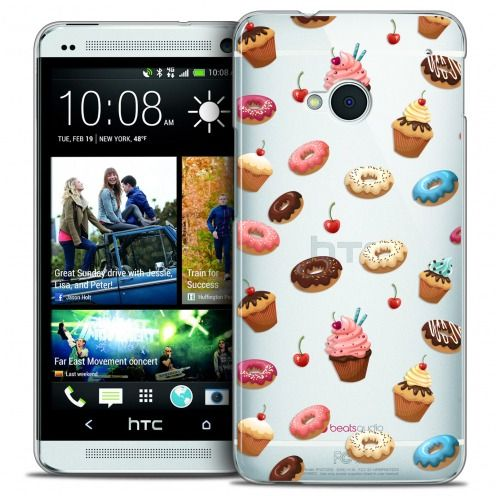 Carcasa Crystal Extra Fina HTC One (M7) Foodie Donuts