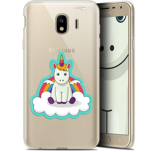 "Carcasa Gel Extra Fina Samsung Galaxy J4 2018 J400 (5.7"") Design Bébé Licorne"