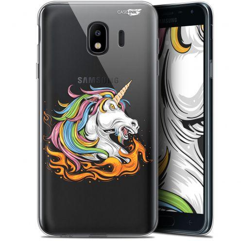 """Carcasa Gel Extra Fina Samsung Galaxy J4 2018 J400 (5.7"""") Design Licorne de Feu"""