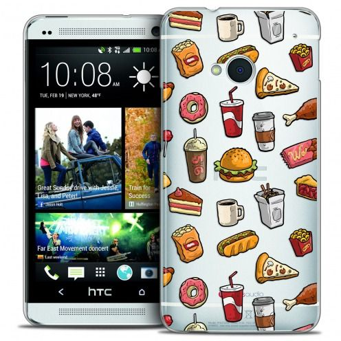 Carcasa Crystal Extra Fina HTC One (M7) Foodie Fast Food